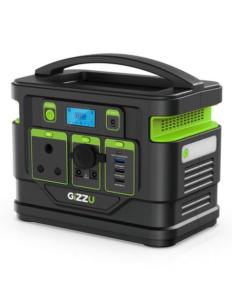 Gizzu 296Wh Portable Power Station -  black