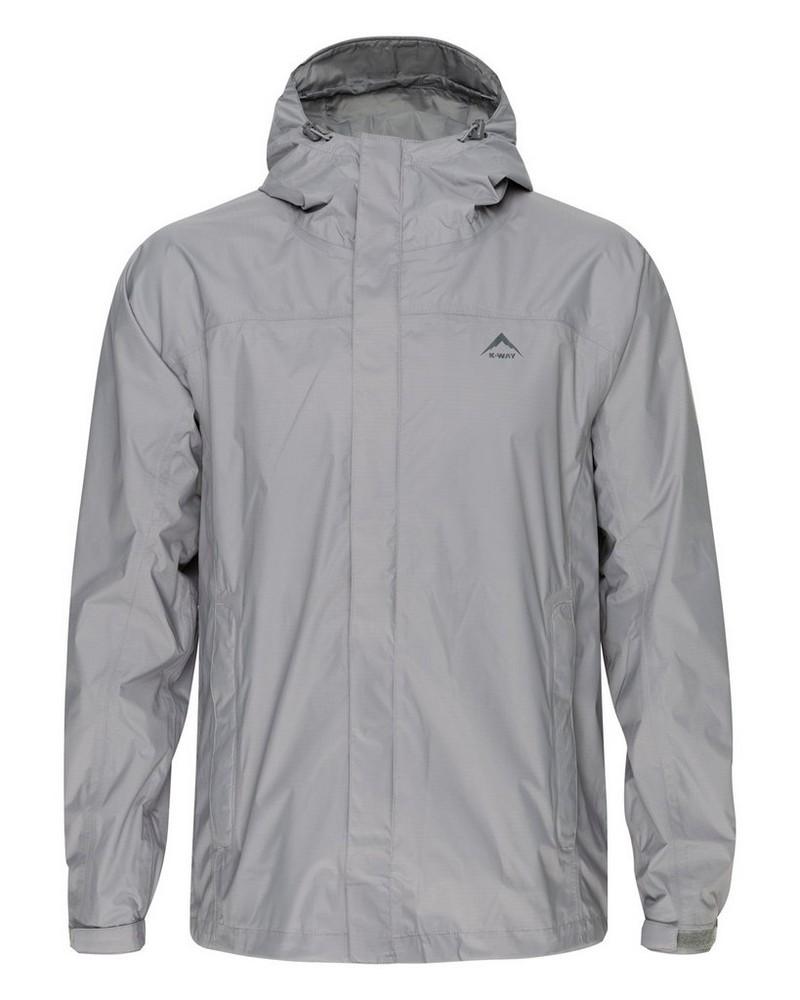 K-Way Men's Franklin Rain Jacket  -  grey