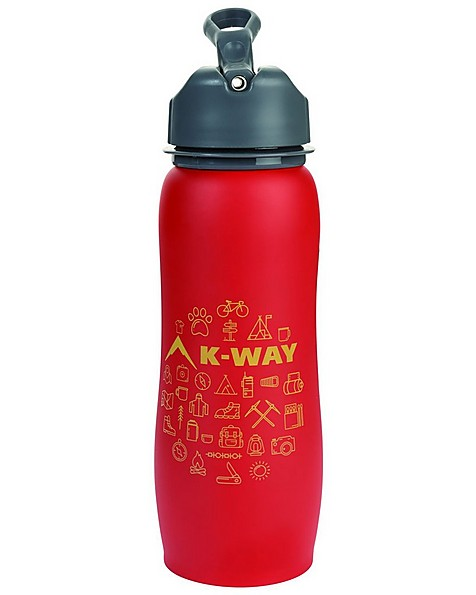K-Way Explore Stainless Steel 750ml Bottle -  red-yellow