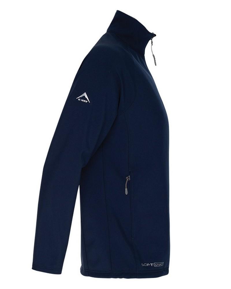 K-Way Men's Felixx Softshell Jacket -  navy