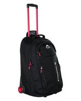K-Way Stowaway 95L Roller Luggage Bag -  black-red