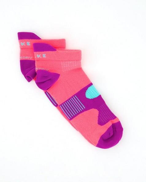 Falke Unisex Hidden Dry Socks -  coral-darkmagenta