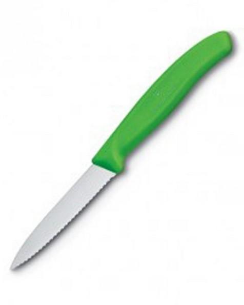 Victorinox 8cm Classic Paring Serrated Kitchen Knife -  green