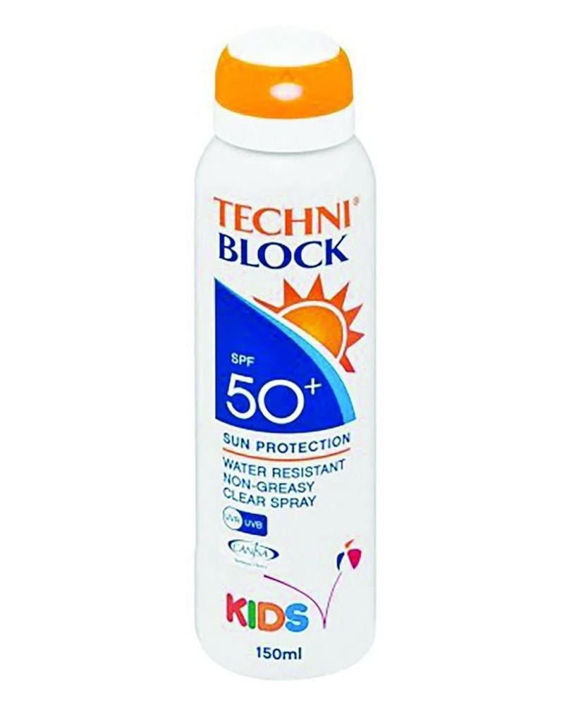 Techniblock SPF50+ 150ml Kids Spray  -  nocolour