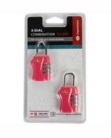 Cape Union TSA Combi Lock - Twin Pack -  pink
