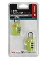 Cape Union TSA Combi Lock - Twin Pack -  lime