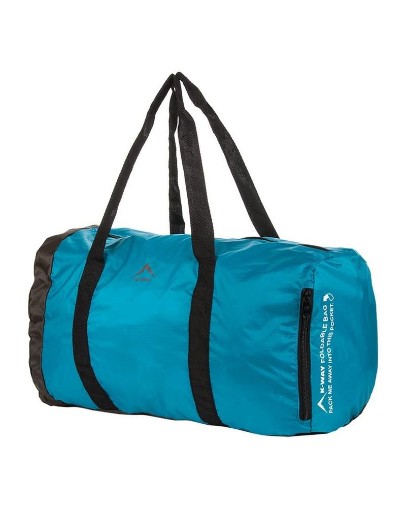 K-Way Foldable Duffle Bag  -  blue-black