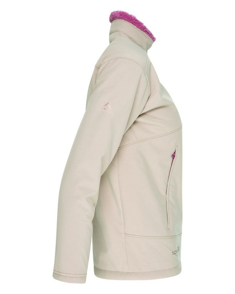K-Way Youth Lynx 3-Layer Softshell Jacket -  bone-berry