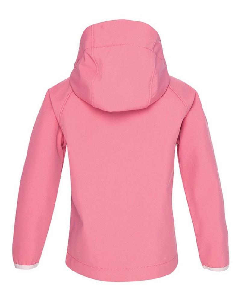 K-Way Youth Ocelot 3-Ply Hoody Softshell Jacket -  watermelon-lightpink
