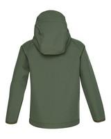 K-Way Youth Ocelot 3-Ply Hoody Softshell Jacket -  olive-lightolive