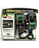 SmartStraps 1.8m Retractable Ratchet Tie Downs  -  green