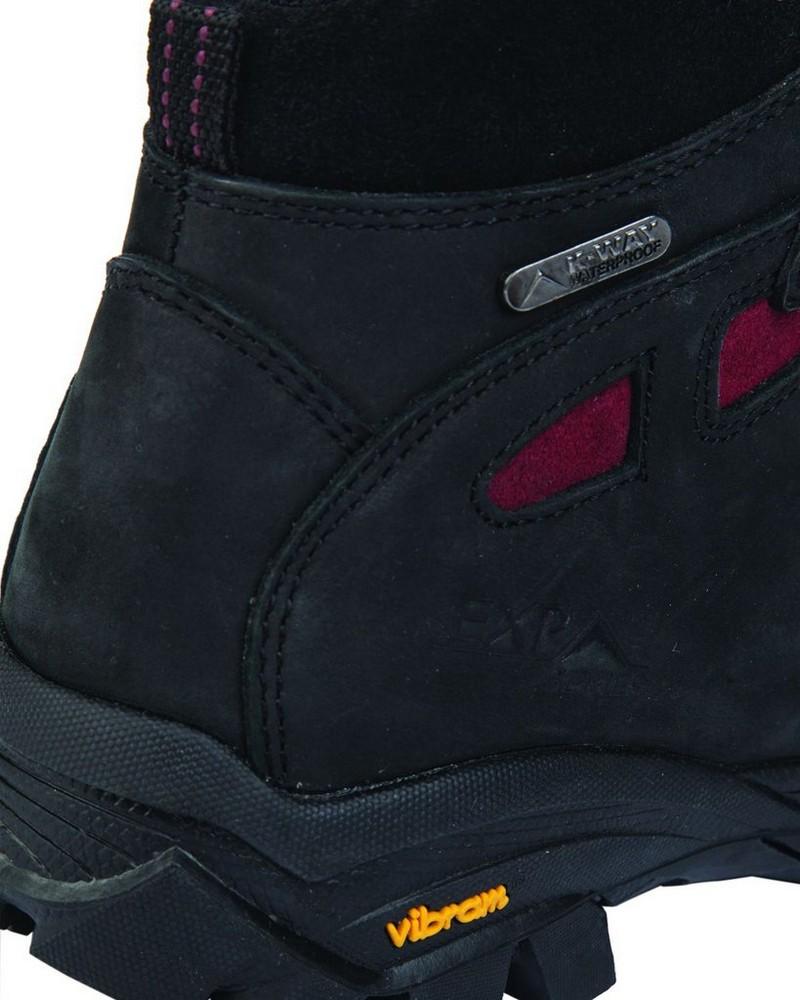 K-Way Kili 16 Boot Ladies -  black-burgundy