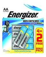 Energizer Advanced AA 4+2 Batteries -  nocolour
