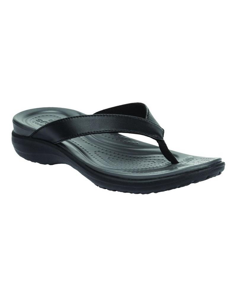 Crocs Women's Capri V Sandal -  black-graphite