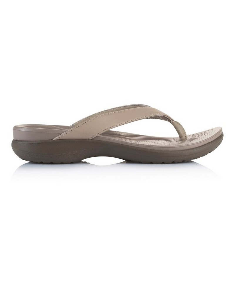 Crocs Women's Capri V Sandal -  stone-brown