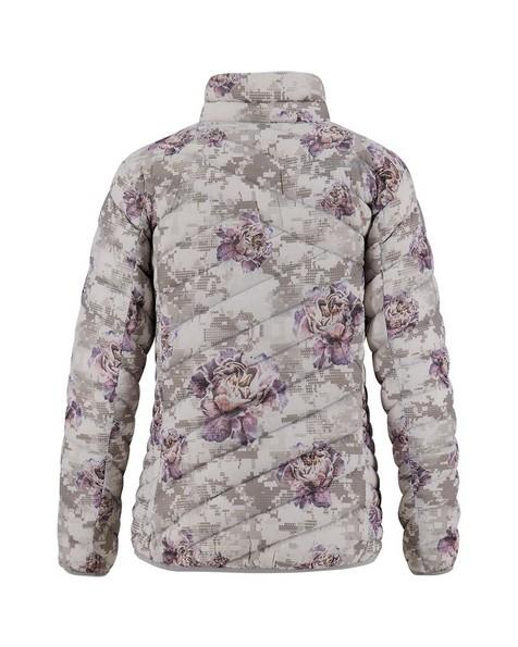 K-Way Women's Printed Tundra Down Jacket -  white-lightpink