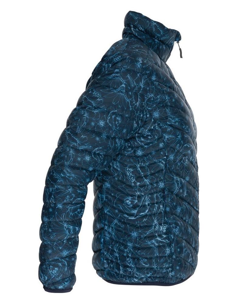 K-Way Women's Printed Tundra Down Jacket -  navy