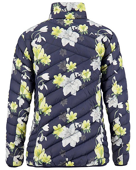 K-Way Women's Printed Tundra Down Jacket -  navy-yellow