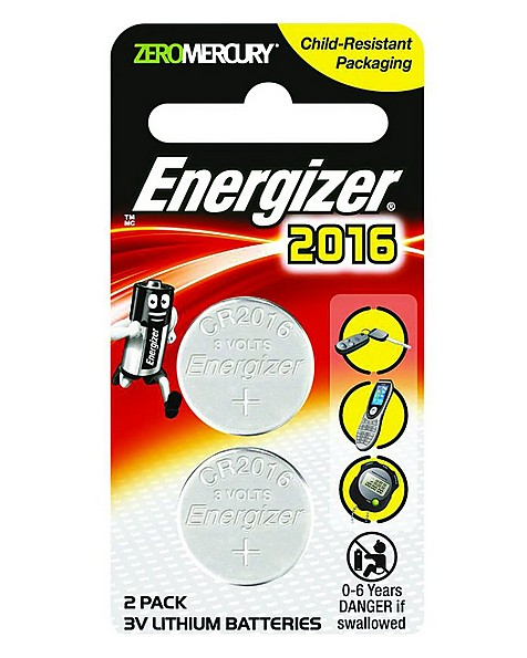 Energizer 2016 Lithium Coin (2 Pack) -  nocolour