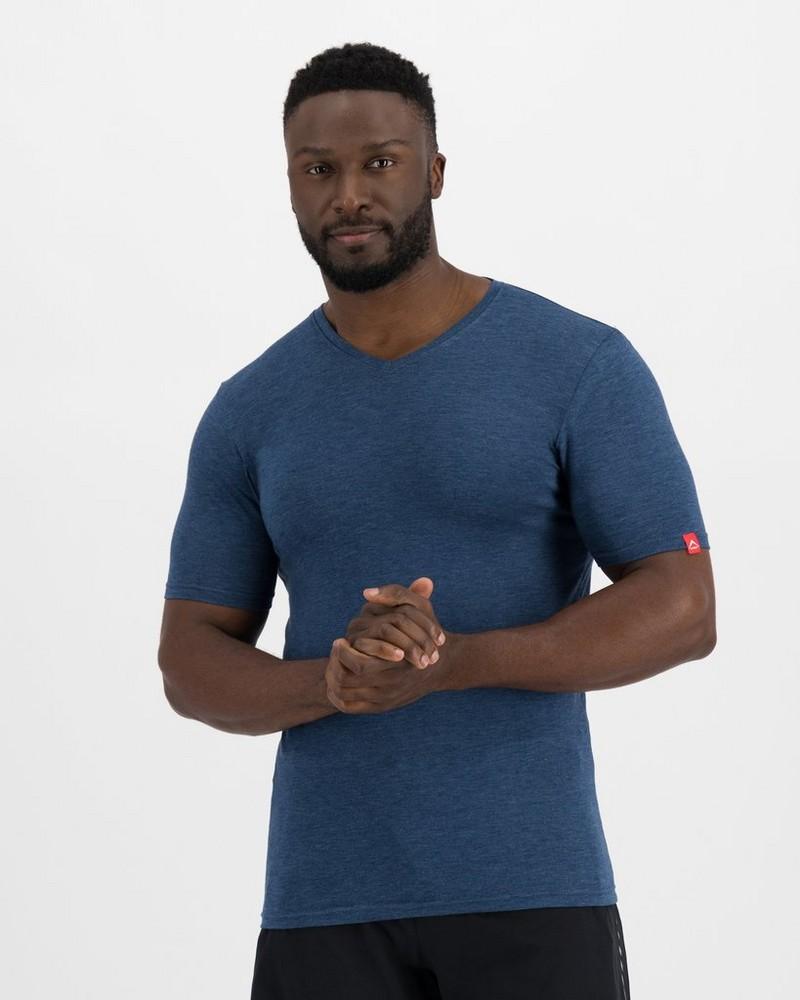 K-Way Men's Thermalator Elite Short Sleeve Vest  -  indigo