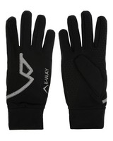 K-Way Unisex Touch Vesper Gloves -  black-silver