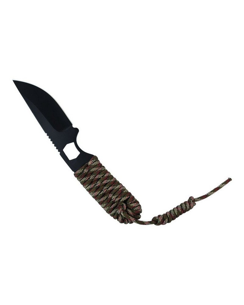 Kaliber Paracord Fixed-Blade Knife -  darkolive-black