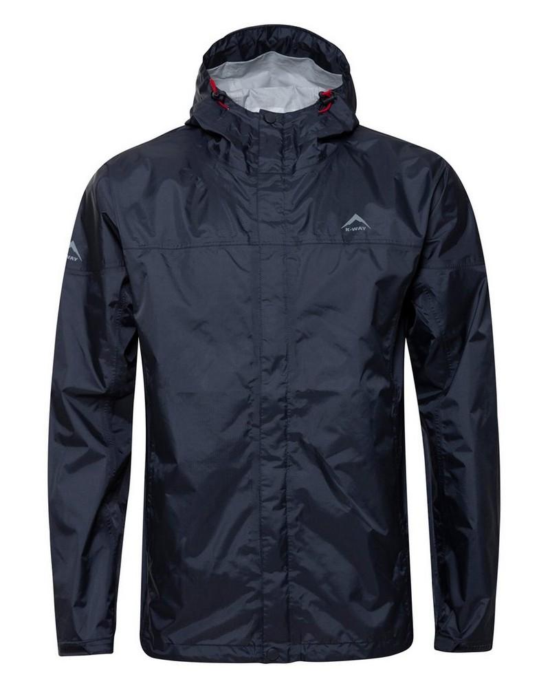 K-Way Rainstorm Jacket Mens -  graphite