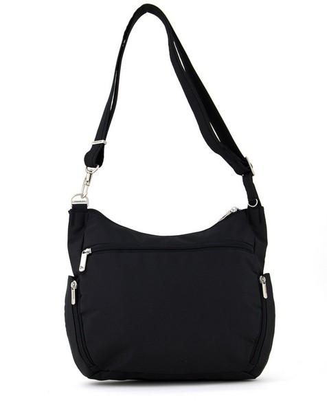 Travelon Anti-Theft Classic Crossbody Bucket Bag   -  black
