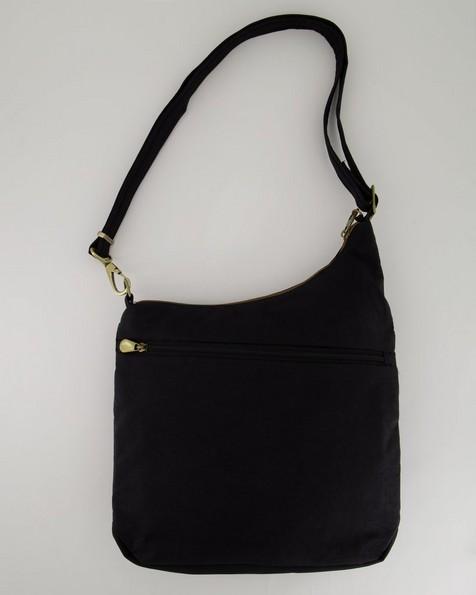 Travelon Anti-Theft Signature Three Compartment Crossbody Bag -  black