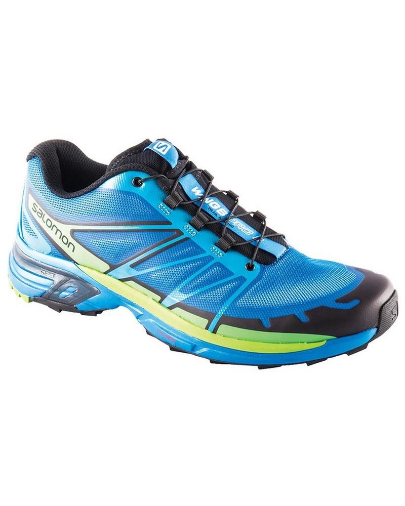 Salomon Men's Wings Pro 2 Shoe -  blue-lightgreen