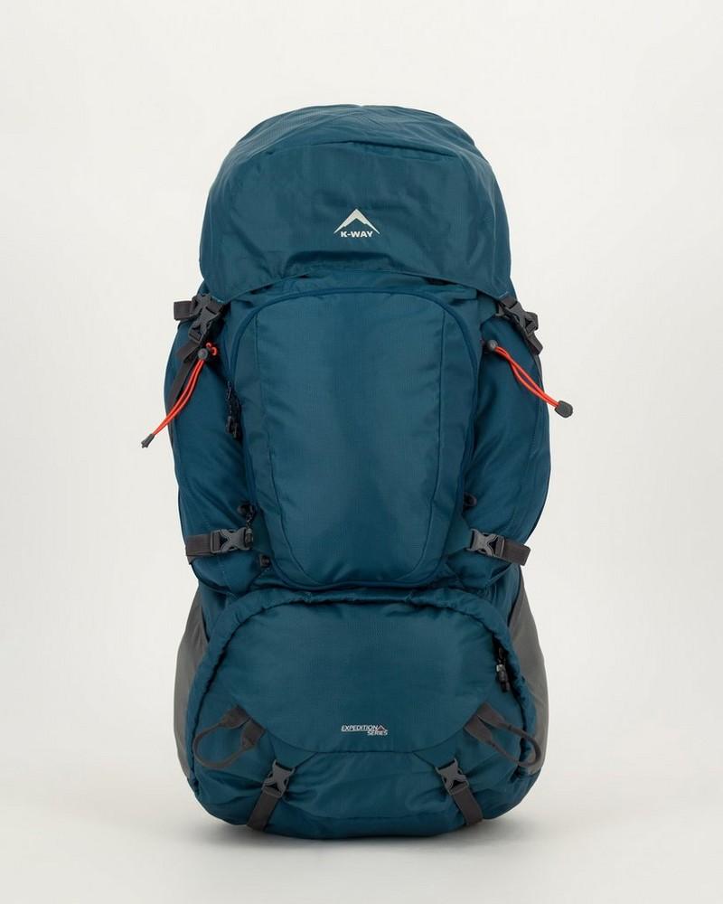 K-Way Pioneer 75+10 Hiking Pack -  airforce-blue