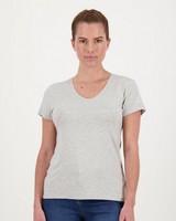 Boody Women's V-Neck T-Shirt -  grey