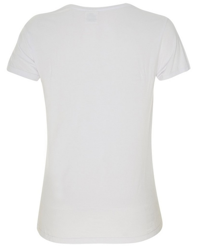 Boody Womens V-neck T-shirt -  white