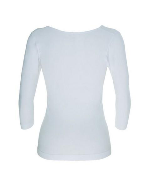 Boody Women's 3/4 Sleeve Scoop Top -  white