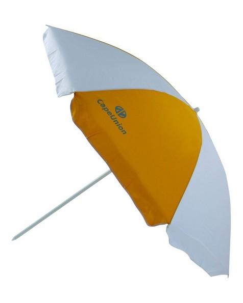 Cape Union 2m PolyCanvas Beach Umbrella -  yellow-white