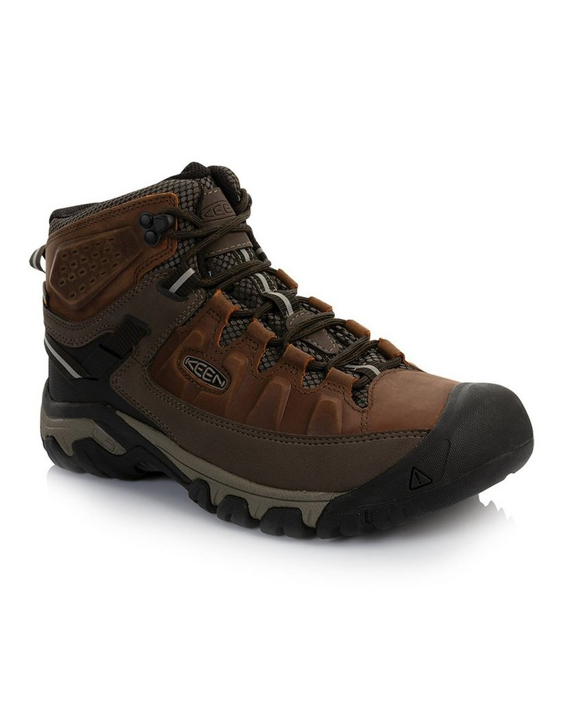 Keen Targhee 3 Mid WP Boot Mens -  brown-driftwood