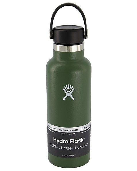 Hydroflask 532ml Standard Mouth Flask -  olive