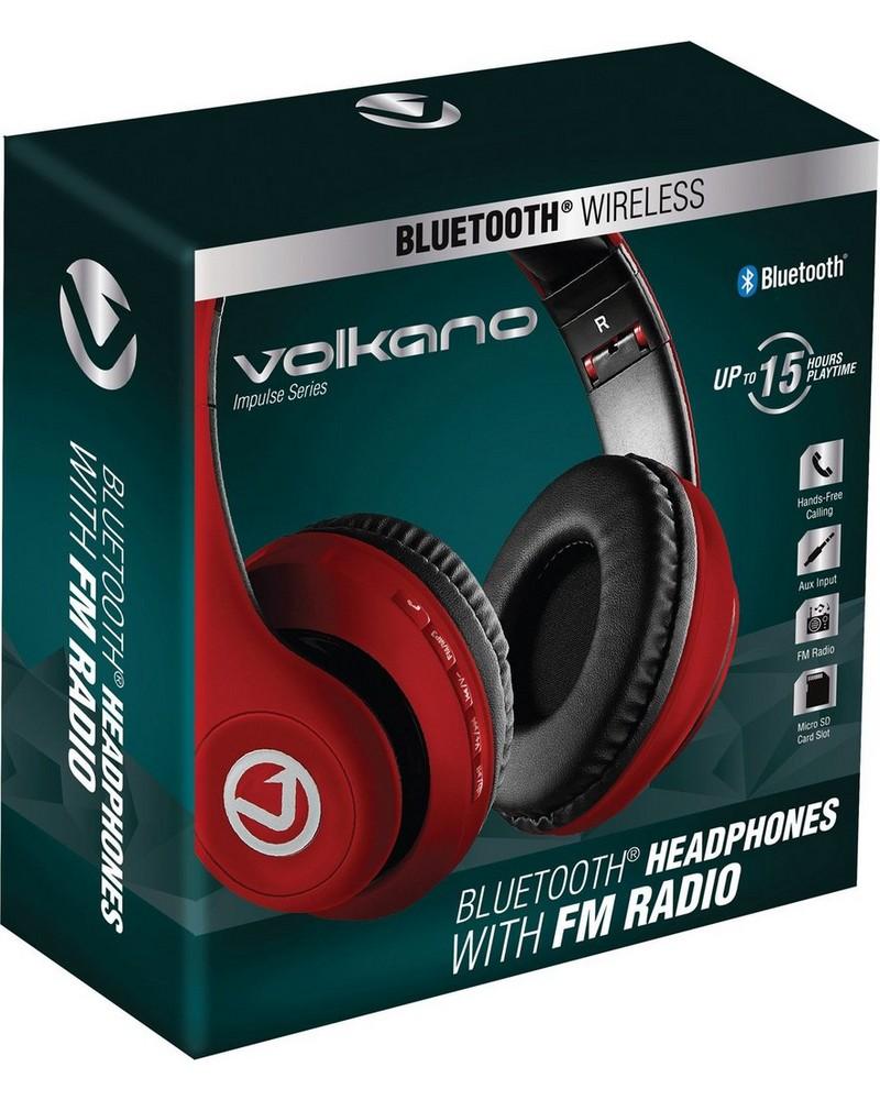 Volkano Impulse Over-Ear Headphones -  red