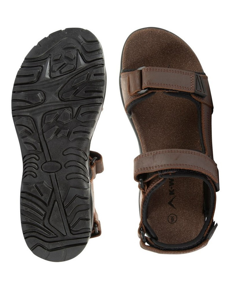 K-Way Harvey Sandal Mens -  chocolate-black