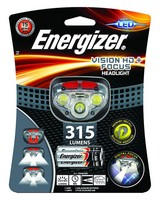 Energizer Vision HD+ Headlamp 315 +3AAA -  grey-red