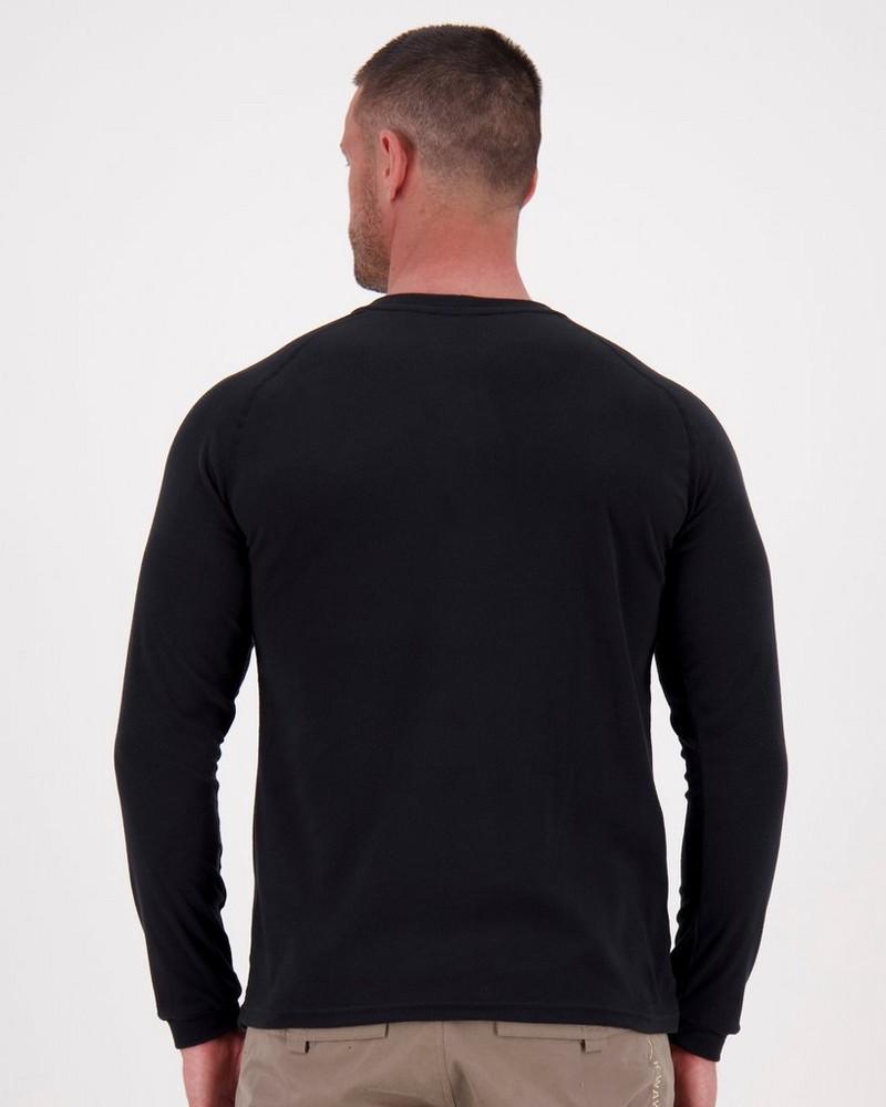 K-Way Men's Harper Crewneck Fleece  -  black
