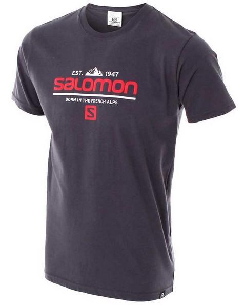 Salomon Men's Visionary Short Sleeve Tee -  graphite