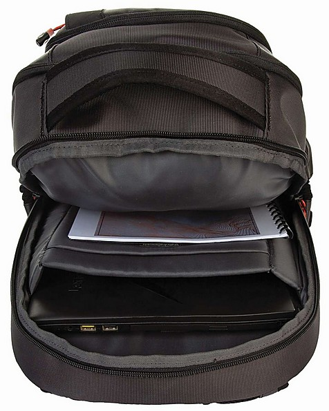 K-Way Carry On 40 Plus Luggage Backpack -  charcoal-orange