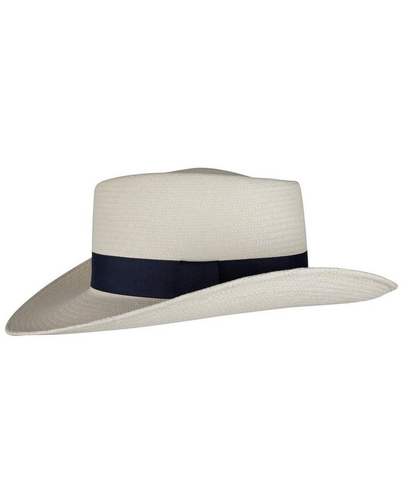 Stephanie Panama Hat Lds -  cream-navy