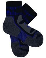 Balega Unisex Blister Resist Quarter Socks -  grey-cobalt