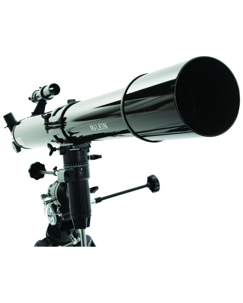 Malkin Refractor 50-111x Telescope -  black