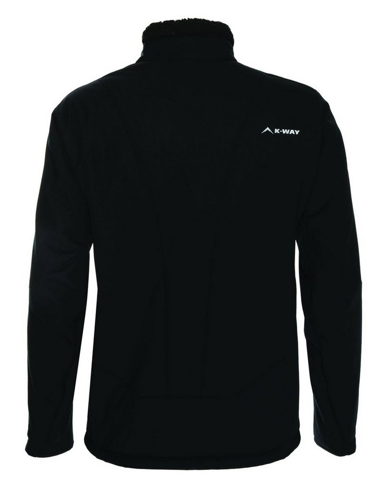 K-Way Men's Blane Softshell  -  black-black
