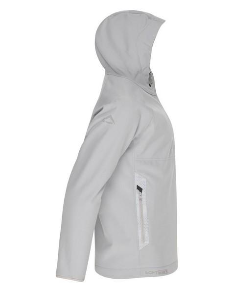 K-Way Youth Ocelot 3-Ply Hoody Softshell Jacket -  silver-grey
