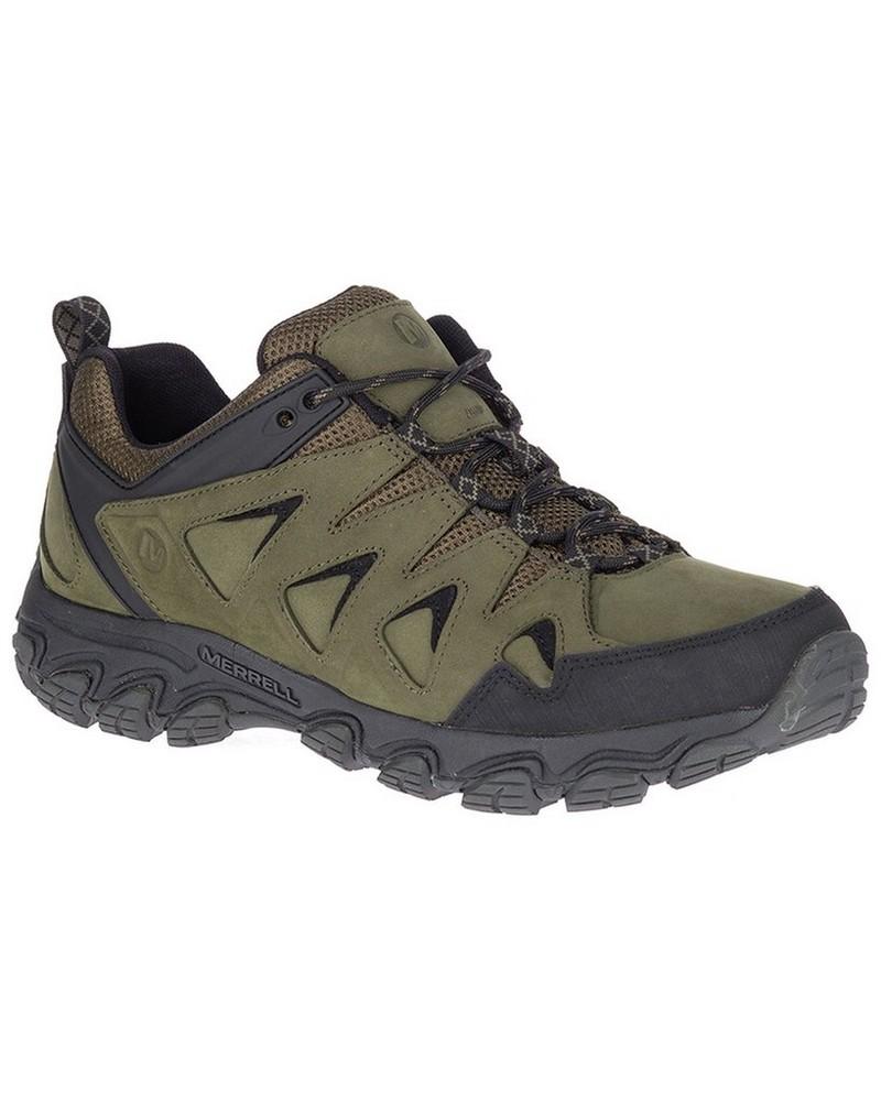 Merrell Men's Pulsate 2 Leather Shoe -  olive-black