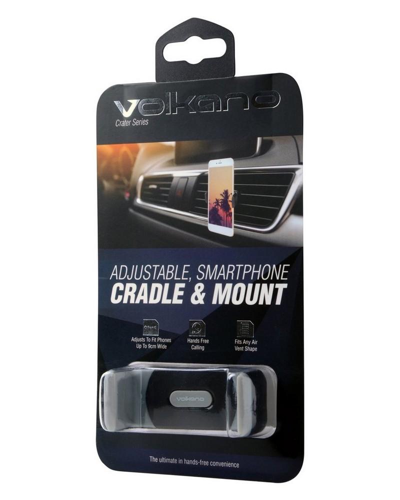 Volkano Crater Adjustable Car Phone Cradle -  black